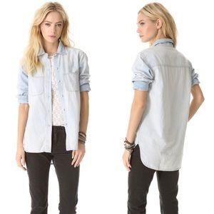 Madewell Light Wash Chambray Button Shirt Small